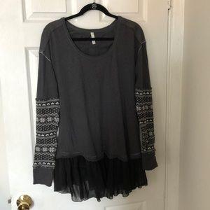 Unique Free People Scoop-Neck Sweater